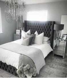Home Remodel Bedroom .Home Remodel Bedroom Grey Bedroom Decor, Stylish Bedroom, Room Ideas Bedroom, Home Bedroom, Master Bedroom, Ikea Bedroom, Modern Grey Bedroom, Grey Bedroom Design, Mirrored Bedroom Furniture