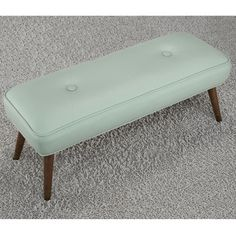 Kelly 48-inch Mid-century Aqua Bonded Tufted Bench | Overstock.com Shopping - Great Deals on Benches