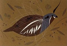 California Mountain Quail - Ford Times Silkscreen Print