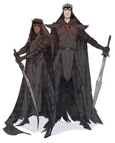 Angmar and Khamûl, two of the future Nazgûl