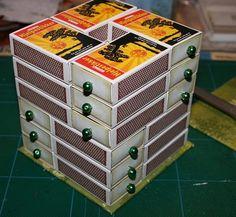 cajas de cerillas organizar abalorios