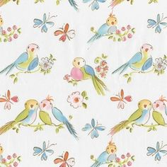 Love Birds nursery fabric