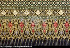 Royalty Free Image of Background Patterns Of Thai Fabric Cotton