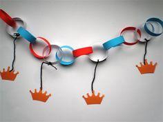 Slinger. Patroontje op http://www.knutselopdrachten.nl/knutselen/feestdagen/koningsdag/knutselen_koningsdag_slinger.shtml