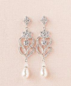Bridal Earrings Wedding Jewelry Chandelier by CrystalAvenues
