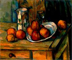 Nature morte avec cruche de lait et fruits (1900)  Hule sur toile (46 x 50)  Paul Cézanne