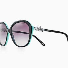 3b25373b5fd6 Tiffany Victoria square sunglasses in black and Tiffany Blue acetate. Tiffany  Sunglasses