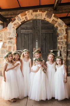 These little angels are wearing our Grace in lace dresses. Older Flower Girls, Lace Flower Girls, Wedding Dressses, Wedding Gowns, Designer Flower Girl Dresses, Mix Match Bridesmaids, Mumu Wedding, Girls Bridesmaid Dresses, Wedding Gallery