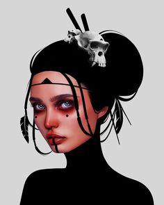 Laura H. Rubin is a digital artist and illustrator based in Bern, Switzerland. Lauren describes herself as a Visual FX Artist & Graphic Designer Digital Art Girl, Digital Portrait, Portrait Art, Digital Painting Tutorials, Surreal Art, Pretty Art, Tag Art, Anime Art Girl, Cool Artwork