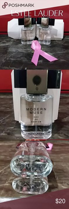 Estee Lauder Modern Muse Two Modern Muse Eau De PARFUM sprays.  Be an inspiration. Experience the fragrance that captures your style, your confidence, your creative spirit. An alluring contrast of sparkling florals and sleek, sensual woods. Estee Lauder Makeup