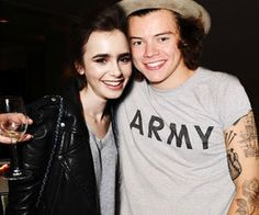 Lily Collins and Harry Styles