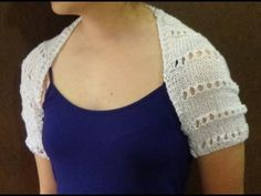 Cómo Tejer Bolero-Chaleco-Mañanita-How to Knit a Shrug 2 Agujas (346) - YouTube