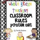 Bright Dots-themed poster set for the 5 Whole Brain Teaching Classroom Rules. Contains 2 poster for rule