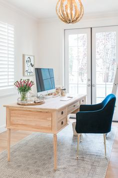 Colette Desk from AVE Raw in the Office Reveal from Sapphire Diaries in collaboration with House of Jade Interiors | Ave Home #avehome #officedesk #officedesign
