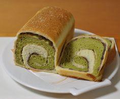 豆乳抹茶うずまき食パン *ホシノ丹沢酵母