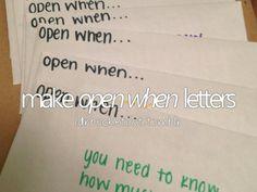 Hacer letras para mi mismo me ayudaría a forjar metas, y abrir la carta cuando logre realizarlas o para inspirarme en el camino
