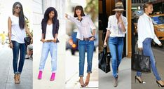 Pairing Jeans With All Your White Shirts Outfits, Copy This Style