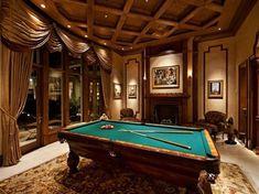 Gentleman's billiard room