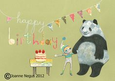 A unique hand illustrated Birthday card by roseintheforest on Etsy, £2.50