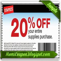 Get More Save With Free Printable Staples Coupons Is A True Household Brand It One Of The Largest Chains Offi