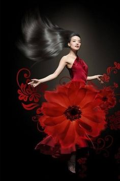 Desirable red gown. V