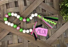 Watermelon Farmhouse Bead Garland MELON Summer Wood Bead Garland Picnic Farmhouse Beads *Includes Bead Garland Only* by CottageRevivals on Etsy Wood Bead Garland, Diy Garland, Beaded Garland, Cute Crafts, Bead Crafts, Diy Crafts, Creative Crafts, Watermelon Crafts, Necklaces