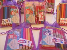 Children's Activity Pack Favours in Purple