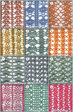 Страница №70. Узоры и схемы для вязания крючком. - 1 Мая 2013 - Узоры крючком
