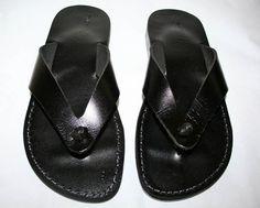 handmade leather flip flops