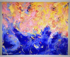 """Abstract Acrylic Painting on Canvas - 24"""" x 30"""""""