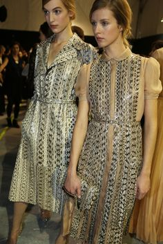 Backstage at Valentino RTW Spring 2013
