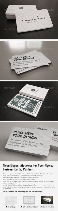 Business card mockup 1 perspective professional look and presents flyerbusiness card clean realistic mockups set 2 photoshop actionsadobe reheart Images