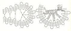 ::ArtManuais- Tecnicas de Artesanato | Moldes para Artesanato | Passo a Passo:: Irish Crochet, Crochet Lace, Bruges Lace, Bobby Pins, Hair Accessories, Crocheting, Stitches, Arts And Crafts, Crochet Clothes
