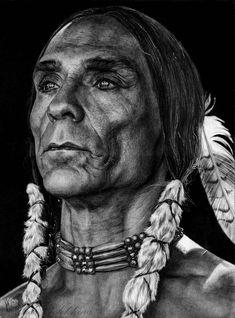 Zahn Tokiya-ku McClarnon by slightlymadart Native American Face Paint, Native American Warrior, Native American Wisdom, Native American Pictures, Native American Artwork, Native American Beauty, American Indian Art, Native American Tribes, Native American History