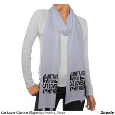 Cat Lover Clarinet Player American Apparel Sheer Scarf
