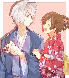 Kamisama Kiss Nanami and tomoe Manga Anime, Moe Anime, Anime Kawaii, Manga Art, Anime Amor, Kamisama Kiss, Anime Cosplay, Tomoe And Nanami, Anime Girls