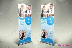 Pet Clinic Roll Up Banner - v051. Flyer Templates. $2.00