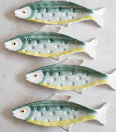 Plato pez verde y amarillo