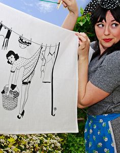 50's housewives tea towel by dupenny   notonthehighstreet.com