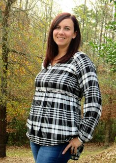 Stitch Fix THML Otsego Tie Neck Plaid Top #StitchFix @thmlclothing