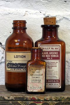 Lotion; Saccharin; Blaud, Arsenic and Nux Vomica.