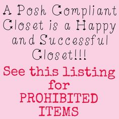 Tips to Posh Compliant Closets I'm still learning myself so sharing with all you amazing ladies! Let's keep Posh fabulous! Other