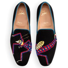 Henri Flat Black Blue Khol Suede Lobster Tattoo