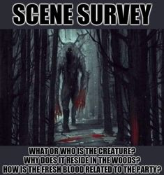 Scene Survey Be The Creature, Geek Culture, Geek Stuff, Creatures, Scene, Writing, Geek Things, Being A Writer, Stage