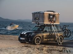 Mini Countryman ALL4 Camp featuring James Baroud roof tents