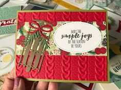 Ramblin' Stamper: Swaps from OnStage Live 2018 - Part I Christmas Cards 2018, Stamped Christmas Cards, Stampin Up Christmas, Xmas Cards, Christmas Diy, Cards Diy, Christmas 2019, Simple Christmas, Handmade Cards
