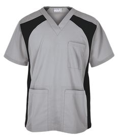 UA Butter-Soft Men's V-Neck Top with Knit Side Inserts Style # STN709C #uniformadvantage #uascrubs #menfashion #silver Spa Uniform, Scrubs Uniform, Men In Uniform, Scrub Suit Design, Scrubs Pattern, Scrubs Outfit, Greys Anatomy Scrubs, Medical Uniforms, Medical Scrubs