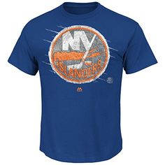 NHL New York Islanders Men's Pond Hockey Tee, Royal, Medium