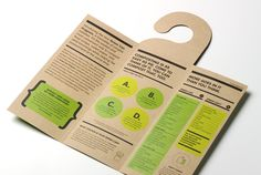 Creative brochure inspiration: Cool hang tag -- Greencan
