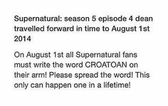 SUPERNATURAL FANS PLEASE SPREAD THE WORD AND DO THIS. IT IS A ONCE-IN-A-LIFETIME OPPORTUNITY